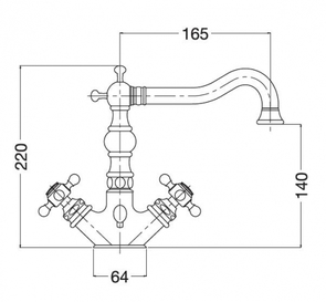 Смеситель для раковины Migliore Arcadia BN.ARC 8334