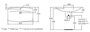 Раковина подвесная Ideal Standard CANTICA T074561