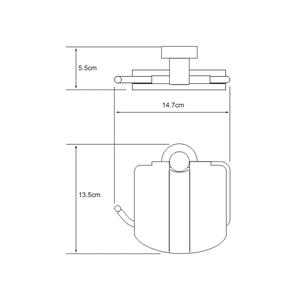 Держатель туалетной бумаги с крышкой Wasser Kraft K-9425