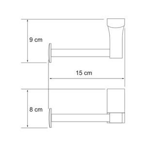 Держатель туалетной бумаги  Wasser Kraft К-5096