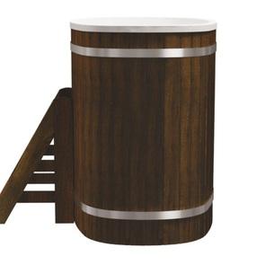 Купель композитная круглая «Стандарт+» PolarSpa 79х125 термоясень