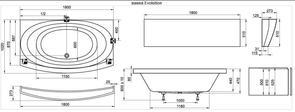 Ванна акриловая Ravak Evolution 180x102