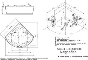 Ванна акриловая угловая Doctor Jet Magnifica 177x177x76