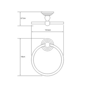 Держатель полотенец кольцо Wasser Kraft К-7060