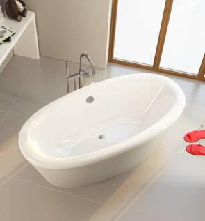Ванна акриловая Alpen AMUR овальная 180х80х48