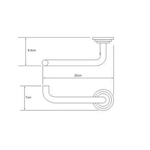 Держатель туалетной бумаги Wasser Kraft К-7096