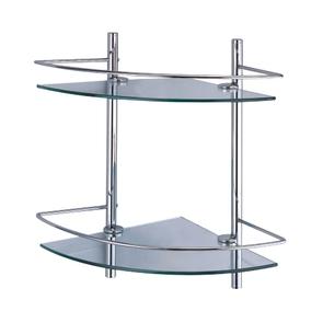 Полка стеклянная двойная угловая Wasser Kraft K-3122