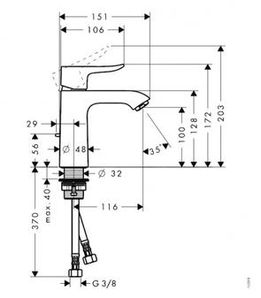 Смеситель для раковины Hansgrohe Metris 31080000