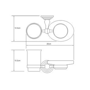 Держатель стакана и мыльницы Wasser Kraft К-7026