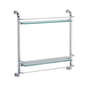 Полка стеклянная двойная Wasser Kraft K-2022
