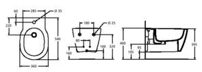 Биде подвесное Ideal Standard Connect E799701