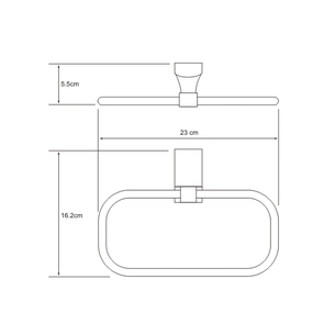 Держатель полотенец кольцо Wasser Kraft  К-5060