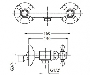 Смеситель для душа Migliore Arcadia BN.ARC-8346