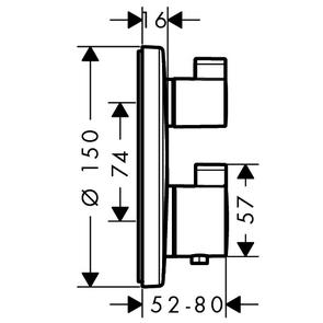 Термостат Hansgrohe Ecostat S 15757000