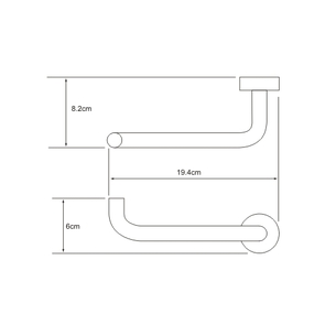 Держатель туалетной бумаги  Wasser Kraft K-9496