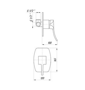 Смеситель для ванны Migliore Chic FP.CHC-42189