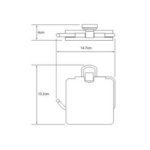 Держатель туалетной бумаги с крышкой Wasser Kraft K-3025