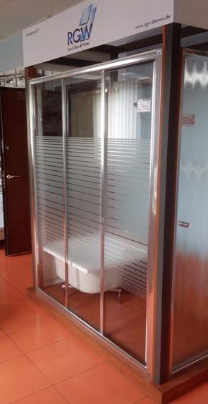 Душевая дверь RGW CL-11 матовая полоска W4