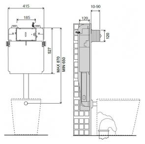 Смывной бачок скрытого монтажа Migliore Better ML.BTR-27.662