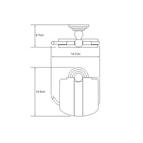 Держатель туалетной бумаги с крышкой Wasser Kraft К-7025