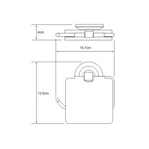 Держатель туалетной бумаги с крышкой Wasser Kraft  K-6225