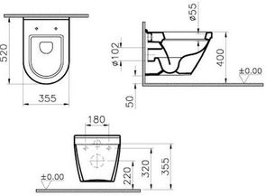 Унитаз подвесной VitrA S50 5318В003-0075
