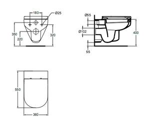 Унитаз подвесной Ideal Standard PLAYA J492701