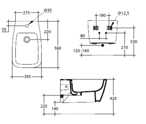 Биде подвесное Ideal Standard VENTUNO T515101