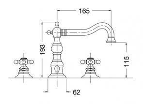 Смеситель для раковины Migliore Arcadia BN.ARC 8312 на 3 отверстия